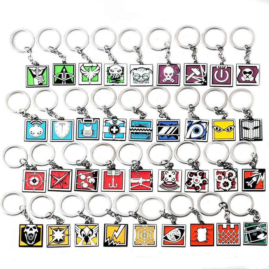 Rainbow Six Siege Operator Icon Keychains (Assorted)
